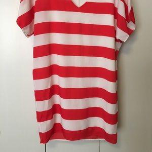 Dresses - Bold red/white striped dress